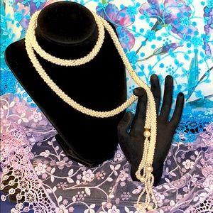 Vintage Pearl Wrap Necklace